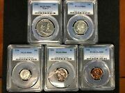 Pr66 1956 Pcgs Graded Proof Set Cameo Look Coins P-mint Show/collectible Lot