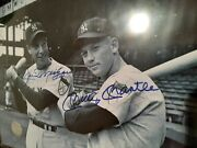 8x10 Photo Joe Dimaggio And Mickey Mantle - Signed By Both Comes W/coa