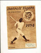 1934 Detroit Tigers Team Signed Baseball Yearbook 26 Sigs Psa/dna