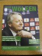 08/04/2010 Wolfsburg V Fulham [uefa Europa League] . Faults With Item Listed Pre