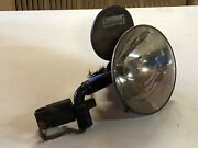 Vintage Howe Searchlight Early Search Spot Lamp Light Glass Bracket And Mirror Old
