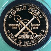 Murray Idaho Pick And Shovel Mining 24k Gold 1 Troy Oz .999 Fine Silver Round Coin