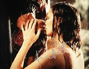 Kirsten Dunst Authentic Hand-signed Mary Jane And Spider-man Kiss 11x14 Photo