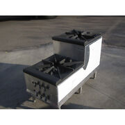 Double Burner, Step-up, Stock Pot Range Dbl Candy Stove - Natural Gas