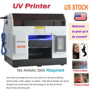 A4 Uv Printer 6 Color For Phone Case/cover Glass Metal Wood Embossed And Ink