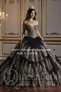 Charro Ballgown Metallic Embroidered Beaded Bodice Off The Shoulder 26934