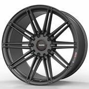 19 Momo Rf-10s Gray 19x8.5 19x9.5 Concave Wheels Rims Fits Ford Mustang Gt