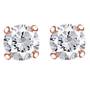 1-1/4 Cttw Round Cut Diamond Stud Earrings In 14k Rose Gold Christmas Special