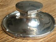 An Excellent Antique Solid Silver Capstan Inkwell