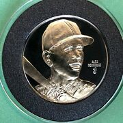 Alex Rodriguez 60 24k Gold Gilded Proof Coin 1.5 Troy Oz .999 Fine Silver Round