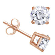 1-1/2 Cttw Round Cut Diamond Stud Earrings In 14k Rose Gold Christmas Special