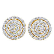 Round Diamond Cluster Stud Earrings 1/2cttw In 14k Yellow Gold Christmas Special