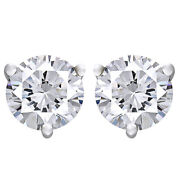 3/4 Cttw Certified Diamond Stud Earrings In 18k White Gold Christmas Special