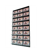 Business Gift Card Holder 24 Pocket Clear And Black Wall Mount Display Qty 12