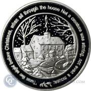 10 - 1 Oz .999 Fine Silver Rounds - Twas The Night Before Christmas - Bu