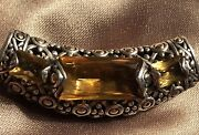 John Hardy Sterling Silver And 18k Gold Large 2 Inches Dot Citrine Slide Pendant