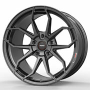 19 Momo Rf-5c Grey 19x8.5 19x9.5 Forged Concave Wheels Rims Fits Ford Mustang