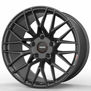 19 Momo Rf-20 Gray 19x8.5 19x9.5 Concave Wheels Rims Fits Ford Mustang Gt