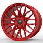 18 Momo Rf-20 Red 18x8.5 Concave Forged Wheels Rims Fits Bmw 525 530 535 540
