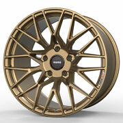 19 Momo Rf-20 Gold 19x8.5 Concave Forged Wheels Rims Fits Tesla Model S
