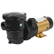 1.5hp High-flow 2-speed Swimming Pool Pump Energy Efficient Large Strainer