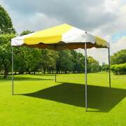 Partytentsdirect 10x10' Commercial Frame Tent Vinyl Yellow White Canopy Pavilion