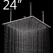 Brushed Stainless Steel Luxury Led Square Rain Bathroom Shower Head 24 Inch