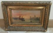 Tableau Hsp De Jean Georges Marine Voile French 19th Century Oil On Board