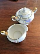 Castleton Sunnybrooke China Sugar And Creamer Made In The Usa Pink Floral Set