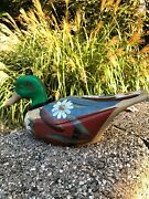 Vintage Hand Carved Wooden Duck Decoy Hand Painted Collectible Hunting Bird 🦆