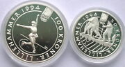 Norway 1993 Winter Olympics 50,100 Kroner Silver Coins,proof-a