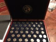 U.s. Presidential Gold Dollar Uncirculated Set And Wood Display Case Complete