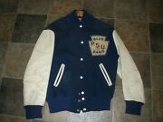 Vintage Sporting Goods Co Athletic Equipment Pa Size 38 Psu Blue Band Jacket Htf