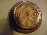 Vintage Early 1930and039s D S To Wheel Center Grease Cap Hubcap For Wood Spoke Wheels