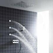 Ceiling Mounted Led Shower System Stainless Steel 20 Inch Gold