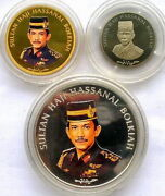 Brunei 1997 Asean Set Of Gold Silver Coinsproofrare