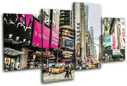 New York Nyc Times Square Urban City Multi Canvas Wall Art Picture Print