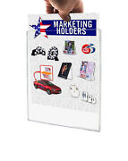 Sign Holder Tru-vu® Clear Display Letter Size 8.5 X 11 Wall Mount Load Qty 100