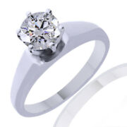 1.72ct Simulated Ideal-cut Round Diamond Classic Ring 14k White Gold