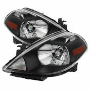 Spyder Auto For 07-12 For For Nissan Versa Crystal Headlights Black 9023613
