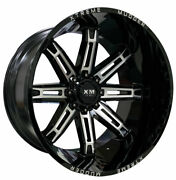 4 Four 26and039and039 Xtreme Mudder Xm-335 26x14 Off Road Wheel Lifted Truck Black Mill