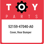 52159-47040-a0 Toyota Cover Rear Bumper 5215947040a0 New Genuine Oem Part