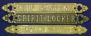 Solid Aluminum/brass Antique Finish Wall/door Plaques/signs Selections