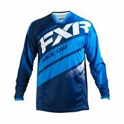 Fxr Racing Mission 18 Mens Mx Motocross Off Road Jersey - Navy/blue/white