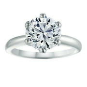 1.08 Ct Round-cut Diamond Vs1-vs2 Gold High-polished Women Engagement And Wedding