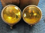 Wow Rare Nos Pair Early Gmc Truck Coach Guide Fog Lights Lamps 6v Gm Chevy Old