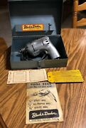 Vintage Black And Decker Electric Tool Kit Metal Case Box With 1/4andrdquo Utility Drill