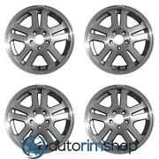 Ford Mustang 2005-2009 Machined With Charcoal 17 Oem Wheels Rims Full Set