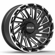 20 Solid Blaze Gloss Black 20x12 Rims Forged Wheels Fits Lifted Toyota Sequoia