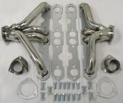 Stainless Steel 1955-57 Chevy Tri 5 Shorty Exhaust Headers Bel Air 150 210 Sbc